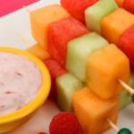 Melon Kabobs Creamy Berry Dip